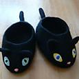 黒猫スリッパ
