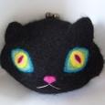 黒猫がま口