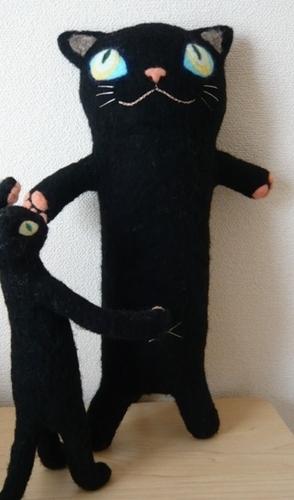 黒猫のがま口