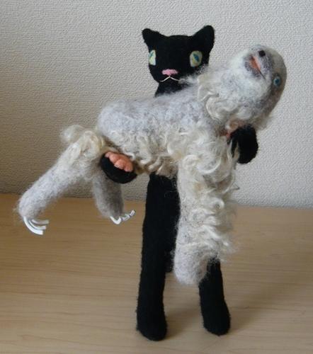黒猫&ナマケモノ
