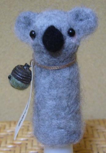コアラ指人形